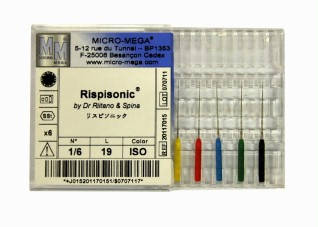 Инструмент для очистки корневых каналов Rispi-Sonic (риспи соник)  Micro-Mega №3 (22мм, 6шт)