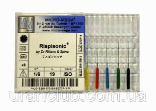 Инструмент для очистки корневых каналов Rispi-Sonic (риспи соник)  Micro-Mega 6шт./уп.