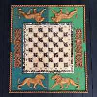 Большие шахматы 3в1 из дерева ручной работы, эксклюзивный подарок для мужчин, фото 1