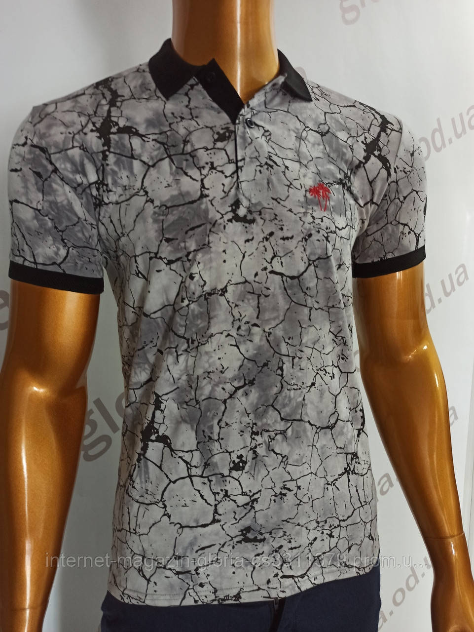 Мужская футболка Поло, MSY. 11232-8334(grey). Размеры: M,L,XL,XXL.