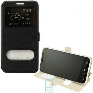 Чехол-книжка Modern 2 окна LG X Power K220, K210 черный