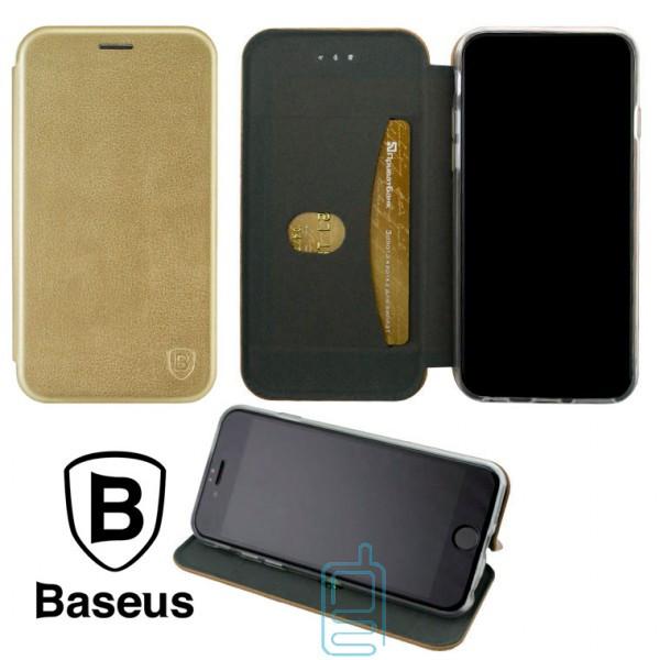 Чехол-книжка Baseus Premium Edge Huawei Honor 7C Pro, Nova 2 Lite, Y7 2018, Y7 Prime 2018 золотистый