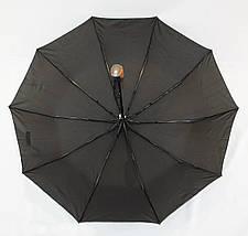 Зонт мужской полуавтомат с куполом 98 см Max черный. Анти-ветер, 10 спиц., фото 2