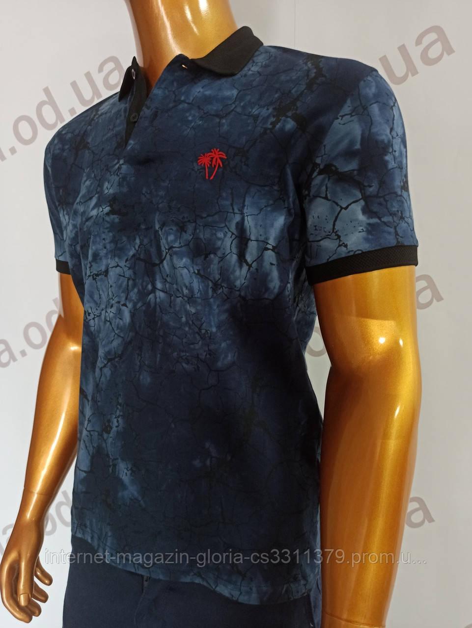 Мужская футболка поло MSY. 11232-8334(si). Размеры: M,L,XL,XXL.