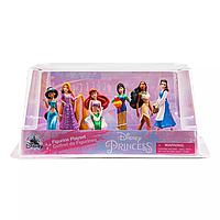Набір фігурок з 6 принцес (Рапунцель, Бель, Жасмін, Мулан, Аріель, Покахонтас) Disney