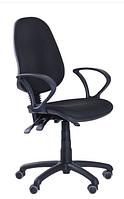 Зручне офісне комп'ютерне крісло на колесиках Брідж АМФ-4 А-01