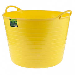 Ведро гибкое сверхпрочное, 40 л, желтое, Россия Сибртех