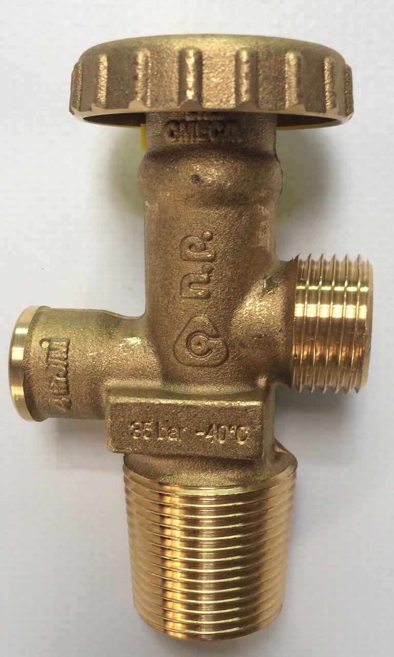 Вентиль газовый с предохранительным клапаном Cavagna