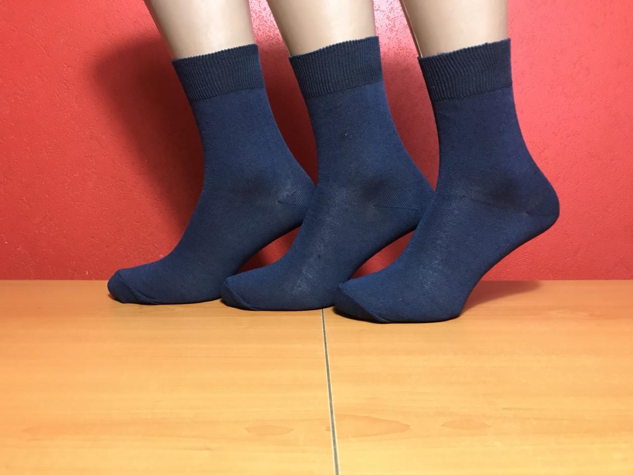 Носки мужские демисезонные хлопок Житомир размер 25 (38-40) темно-синие