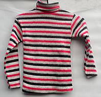 Гольф вязаный для мальчика 4-10 лет розовый в полоску