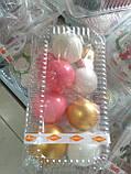 """Набір """"Кульки святкові (9шт) білі/золоті/рожеві"""", фото 2"""