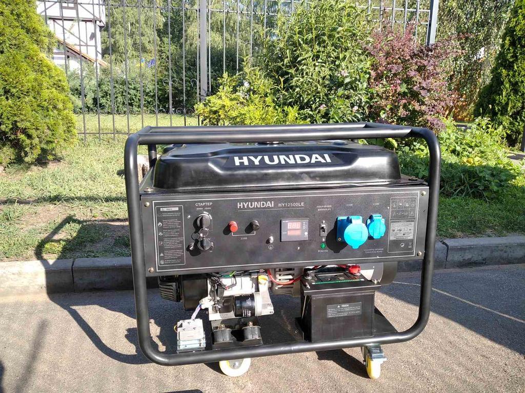 Генератор бензиновый 9,5 кВт Hyndai HY12500LE