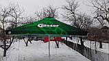 Тент на зонт 4х4 торговый садовий пляжный барный тент для зонта 4х4 метра уличный тросовый квадратный, фото 3