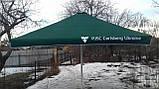 Тент на зонт 4х4 торговый садовий пляжный барный тент для зонта 4х4 метра уличный тросовый квадратный, фото 4