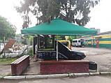 Тент на зонт 4х4 торговый садовий пляжный барный тент для зонта 4х4 метра уличный тросовый квадратный, фото 8
