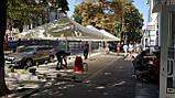 Тент на зонт 4х4 торговый садовий пляжный барный тент для зонта 4х4 метра уличный тросовый квадратный, фото 9