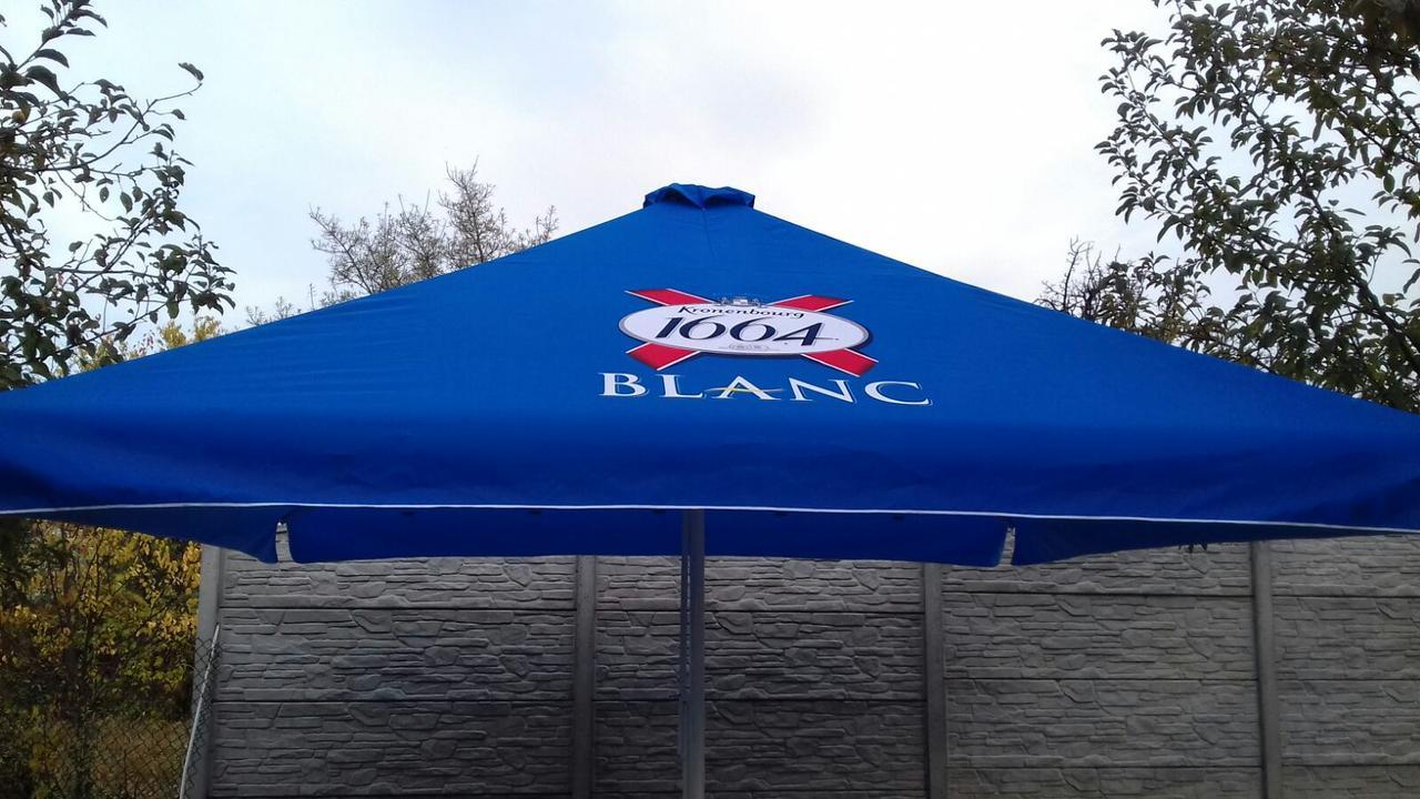 Тент на зонт 4х4 торговый садовий пляжный барный тент для зонта 4х4 метра уличный тросовый квадратный