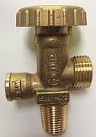 Вентиль на баллоны с малой резьбой с предохранительным клапаном Cavagna, фото 1