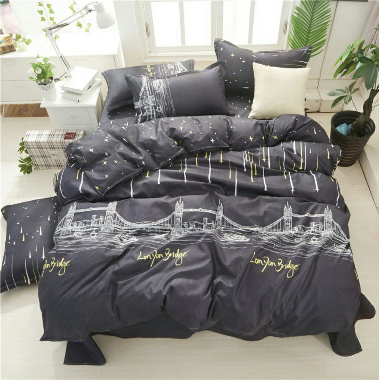 Двухспальный постельный комплект-Будапешт
