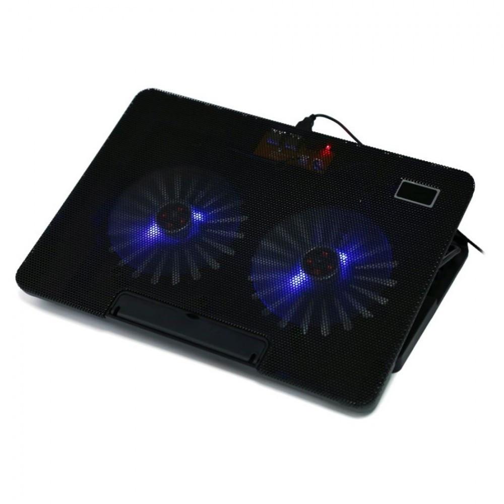 Подставка охлаждающая для ноутбука 2 вентилятора, диагональ 9-17 дюймов чёрный N99