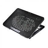 Подставка охлаждающая для ноутбука 2 вентилятора, диагональ 9-17 дюймов чёрный N99, фото 7