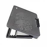 Подставка охлаждающая для ноутбука 2 вентилятора, диагональ 9-17 дюймов чёрный N99, фото 3