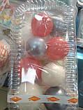 """Набір """"Кульки святкові (9шт) білі/срібні/рожеві"""", фото 2"""