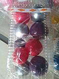"""Набір """"Кульки святкові (9шт) фіолетові/малинові/срібні"""", фото 2"""