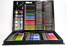 Детский набор для творчества и рисования в чемоданчике 150 предметов UKC Painting Set черный