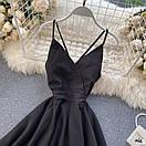 Летнее платье на бретелях с двойной расклешенной юбкой 77plt1480, фото 2