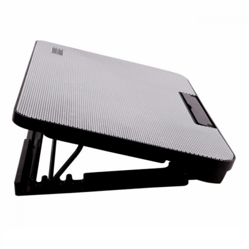 Подставка охлаждающая для ноутбука 2 вентилятора, диагональ 9-17 дюймов чёрный с белым N99