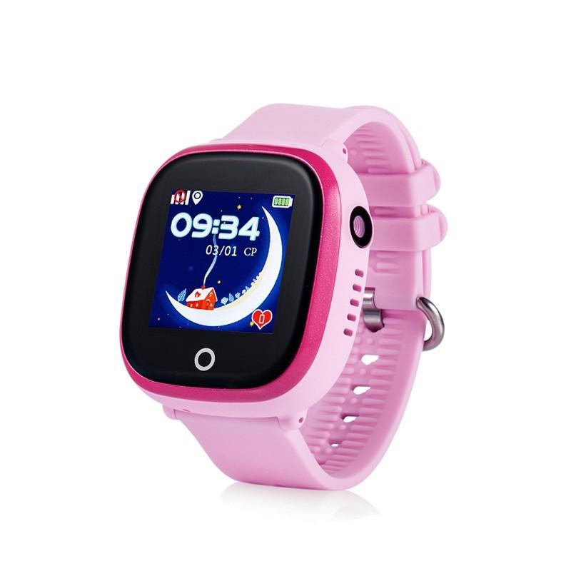 Детские смарт-часы Wonlex GW400X с Gps трекером (Розовый)