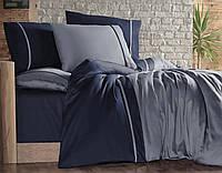 Качественное постельное белье First Choice. Satin Синий и голубой - Евро 7483, фото 1
