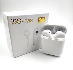 Наушники беспроводные TWS - i9S Bluetooth V 5.0 с кейсом White