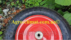 Колесо к тачки 3.50-8 12 мм + ось не разборное игольчастый 4 PR 100 mm cтупица, фото 2