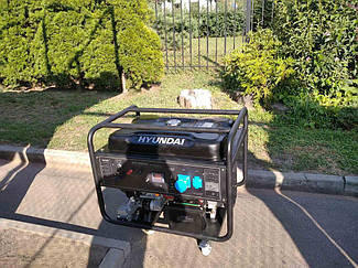 Генератор бензиновый 9,5 кВт Hyndai HY12500LE 6