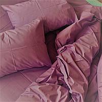 Комплект постельного белья из ранфорса, пыльно розовый