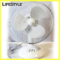Вентилятор электрический бытовой настольный Wimpex WX-901TF 9'' / 2 скорости, фото 1