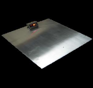 Платформенные весы ЗЕВС ВПЕ нержавеющего исполнения 1200х1200 (2000кг), фото 2