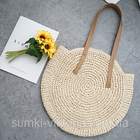 Плетеная сумка из соломы Beach