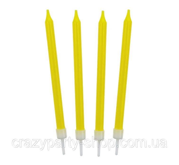 Свечи для торта жёлтые 8, 6 см