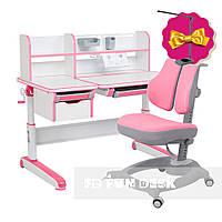 Комплект стол-трансформер Libro Pink+эргономичное кресло Diverso Pink FunDesk