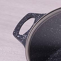 Кастрюля с крышкой Kamille 6.3л из литого алюминия и антипригарным покрытием для индукции и газа KM-4402, фото 3