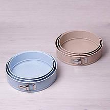 Набор разъемных форм Kamille 3шт 24/26/28см с антипригарным покрытием мрамор KM-6031, фото 2