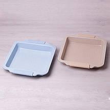 Форма для запекания Kamille 30.5*27см с антипригарным покрытием мрамор и силиконовыми ручками KM-6035, фото 2