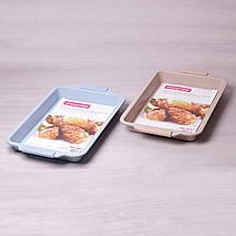 """Форма для запекания Kamille 46*29.5см с антипригарным покрытием """"мрамор"""" и силиконовыми ручками KM-6027, фото 3"""