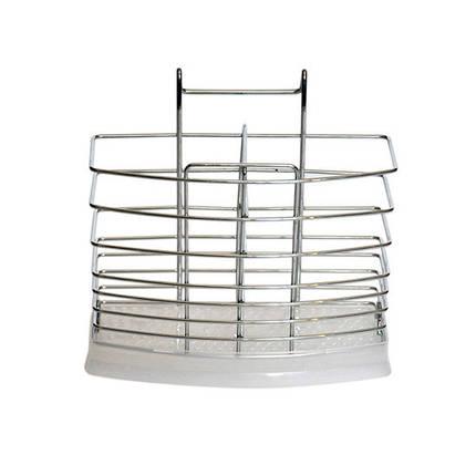 Подставка навесная Kamille для ложек и вилок 17х6.5х15.5см KM-0195, фото 2