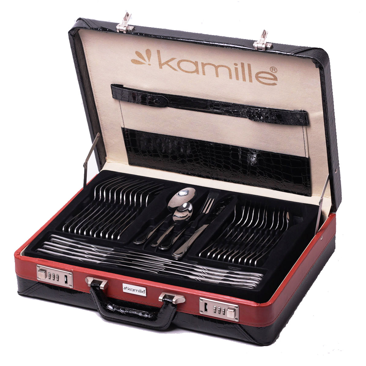 Набор столовых приборов Kamille 72 предмета из нержавеющей стали в кейсе KM-5215A
