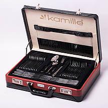 Набор столовых приборов Kamille 72 предмета из нержавеющей стали в кейсе KM-5215A, фото 3