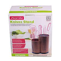 Подставка для ножей и кухонных принадлежностей Kamille 22см (двойная) KM-7609A, фото 2